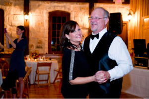 Chip Fenner dances with his wife Sandi.